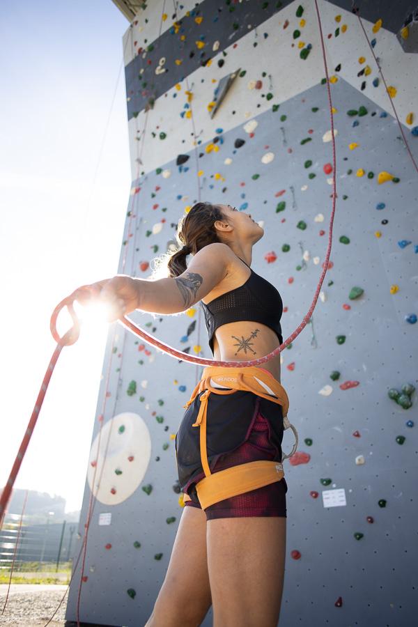Voies mur extérieur Climb Up salle d'escalade